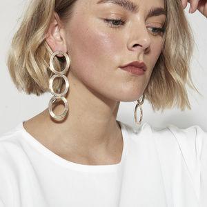 Pamela Love Helene Brass Drop Earrings